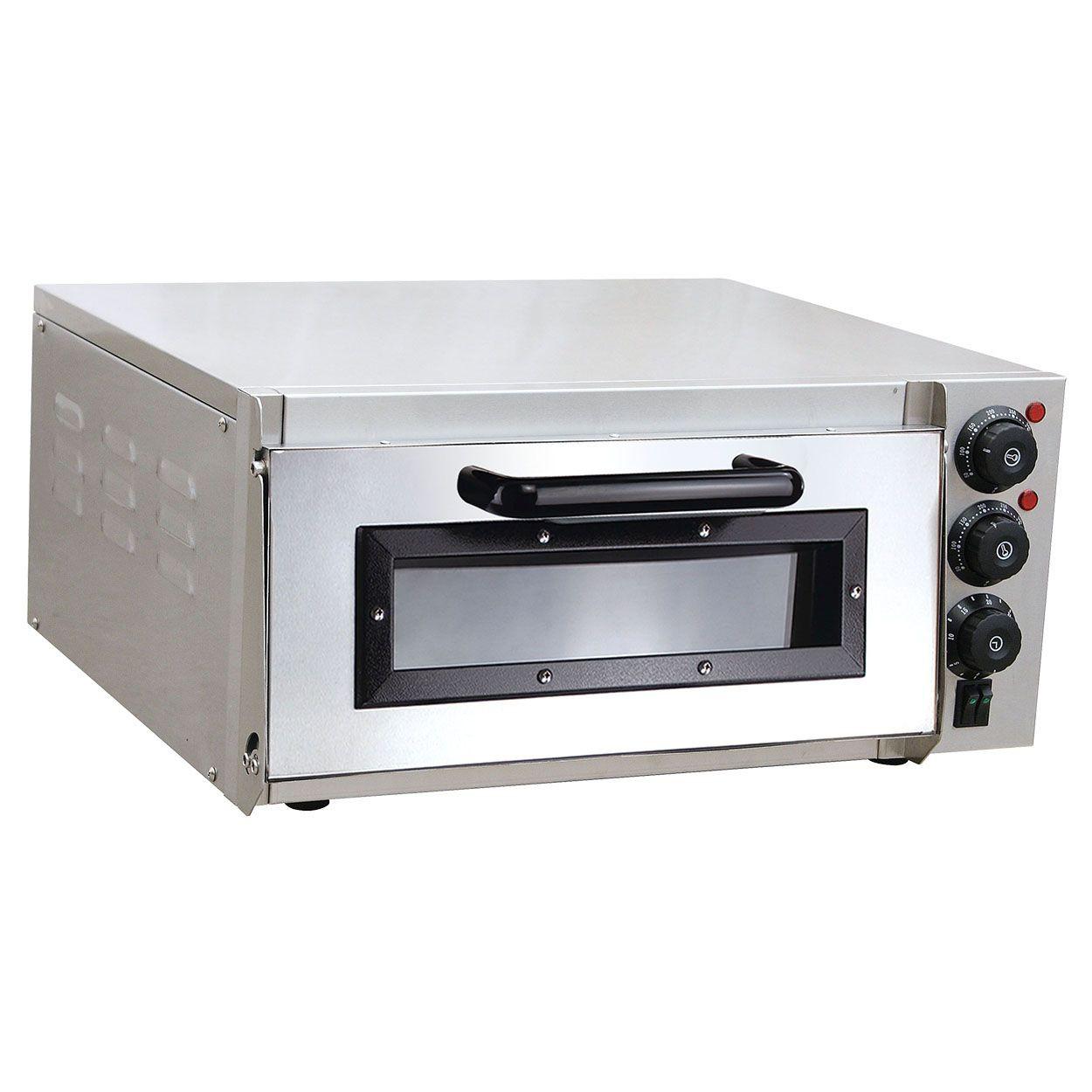 pizzaofen elektrisch aus edelstahl mit pizzastein 1 kammer 2000 watt steinbackofen mit. Black Bedroom Furniture Sets. Home Design Ideas